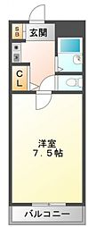 ハイムタケダT8[7階]の間取り