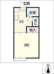 ハイツ相生山[2階]の間取り