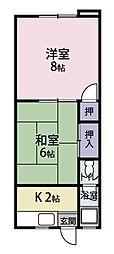 順風ハイツ[202号室]の間取り