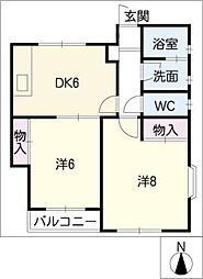 松本台セントラル[1階]の間取り