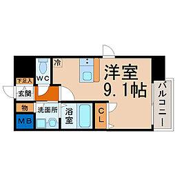 プレサンス名古屋STATIONビーフレックス[306号室]の間取り