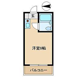 オーエスタマンション[403号室]の間取り