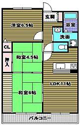 クレールメゾン[4階]の間取り