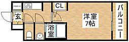 クレアート大阪トゥールビヨン[5階]の間取り