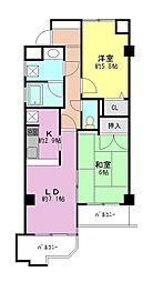 コーラルハイツ朝霞[2階]の間取り