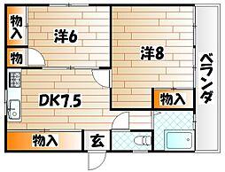 オアシス真鶴[3階]の間取り