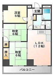 江坂第二下伊マンション[6階]の間取り