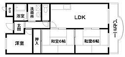 セントポリア岸和田4階Fの間取り画像