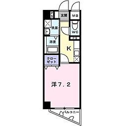 神奈川県横浜市西区西前町2丁目の賃貸マンションの間取り