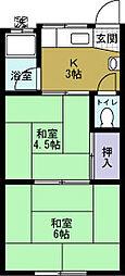 天戸マンション[3階]の間取り