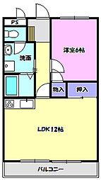 宮本マンション[107号室]の間取り