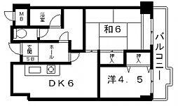 グランディール松浦[2階]の間取り