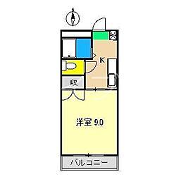 マンションアーバン[4階]の間取り