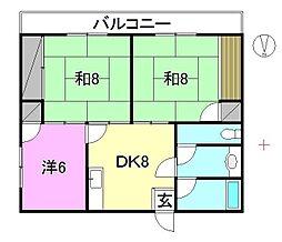 井手ノ上ハイツ[101 号室号室]の間取り