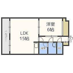ライオンズマンション北5条通[5階]の間取り