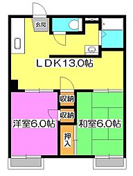 メゾン並木A棟[1階]の間取り