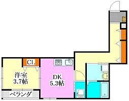 Nコート ルピア[2階]の間取り