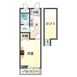 大阪府大阪市平野区長吉長原4の賃貸アパートの間取り