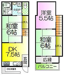 [テラスハウス] 大阪府堺市西区浜寺船尾町西2丁 の賃貸【/】の間取り