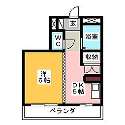コーポ佐藤[4階]の間取り
