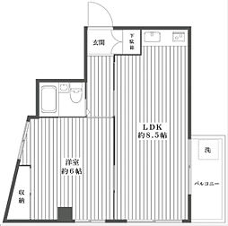 サンピラーS[3階]の間取り