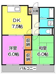 エクセル大和田[2階]の間取り