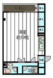 チャペルサイドアパートメント[3階]の間取り