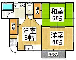 糸伝ホーム[2階]の間取り