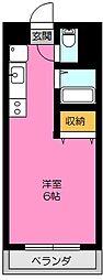 アカデミック渋谷(家具家電付)[3階]の間取り