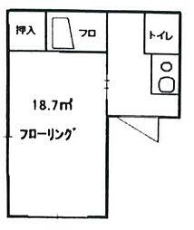 東京都新宿区改代町の賃貸マンションの間取り