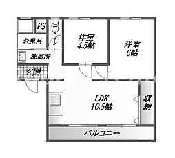 昭和マンションA棟[1階]の間取り
