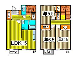 [テラスハウス] 埼玉県さいたま市緑区大字中尾 の賃貸【/】の間取り