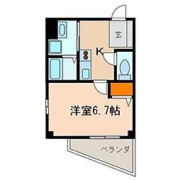 千葉県柏市東台本町の賃貸マンションの間取り