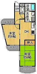 寺島パインマンション[3階]の間取り
