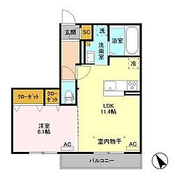 (仮)福居町プロジェクト C[3階]の間取り