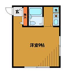 東京都国分寺市南町の賃貸マンションの間取り