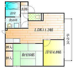メゾン フォーレ[2階]の間取り