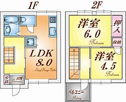 [テラスハウス] 兵庫県神戸市須磨区関守町2丁目 の賃貸【/】の間取り