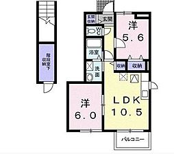 埼玉県東松山市箭弓町3丁目の賃貸アパートの間取り