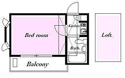 イグレック梅島[2階]の間取り