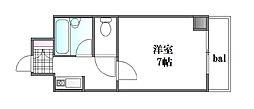 第2藤澤ビル[207号室]の間取り