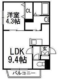 北海道札幌市西区琴似四条3丁目の賃貸マンションの間取り