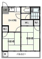 東京都足立区本木西町の賃貸アパートの間取り