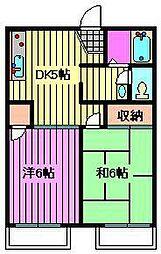 シェモアK[2階]の間取り