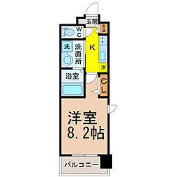 パルティール名駅北[8階]の間取り