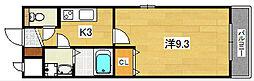 ロータスコート[2階]の間取り
