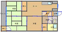 長崎県長崎市愛宕4丁目の賃貸マンションの間取り