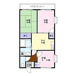 福富マンション[1階]の間取り