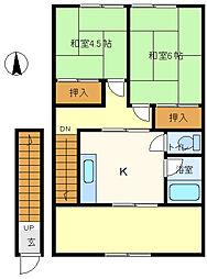 原店舗上住宅[2階]の間取り