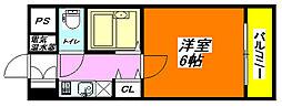 イマザキマンション・エヌワン1113号室[11階]の間取り